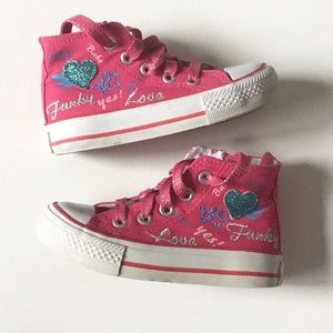 Pink sneakers,size EU 25/US 9
